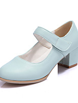 Women's Shoes Faux Chunky Heel Heels/Round Toe/Closed Toe Pumps/Heels Outdoor/Dress/Casual Blue/Beige
