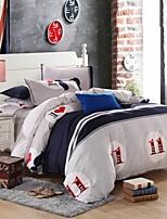 Mingjie barba estilo da cidade de lixa cinza conjuntos de cama 4pcs capa de edredon conjuntos de roupa de cama queen size china e em