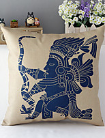 Country Style Traditional Indian Cotton/Linen Decorative Pillow Cover