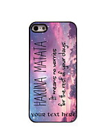 Personalized Gift Hakuna Matata Pattern Aluminum Hard Case for iPhone 4/4S