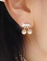 Cute Little Cherry Pearl Stud Earring