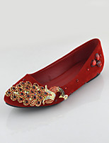 Women's Shoes Flat Heel Mary Flats Wedding/Party & Evening/Dress Red