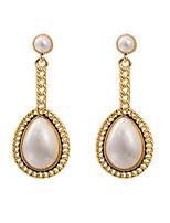 Women's Elegant Water Drop Pearl Pendant Stud Earrings HJ0035