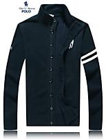Men's Casual/Work/Formal Pure Long Sleeve Regular Jacket