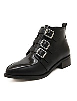Women's Shoes Chunky Heel Pointed Toe/Closed Toe Boots Casual Black/White