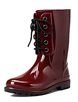 Women's Shoes PVC Chunky Heel Rain Boots Round Toe Boots Casual More Colors available