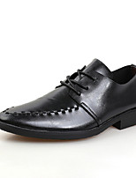 Men's Shoes Office & Career/Casual/Party & Evening Leather Oxfords Black/Brown/White