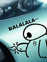 grappig gelukkig schattige grote held 6 baymax balalala van auto sticker sticker waterdicht covers motorfiets sticker auto styling
