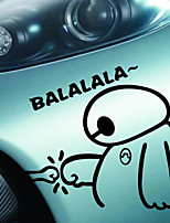 Funny Happy Cute Big Hero 6 Baymax Balalala of Car Sticker Decal Waterproof Covers Motorcycle Sticker Car Styling