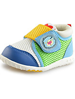 Baby Shoes Outdoor Faux Leather/Tulle Athletic Shoes Yellow/Green for little kids