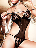 Sexy Hot Lingerie Teddy Leopard Sheer Nightwear Women's Underwear G-string Without Chain 3257