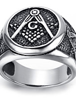 Mens Stainless Steel Ring, Vintage, Fashion, Masonic KR2012