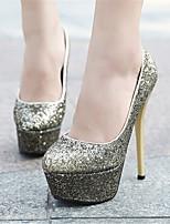 Women's Shoes Stiletto Heel Heels Pumps/Heels Wedding/Party & Evening/Casual Silver/Gold