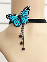 Women's Wedding/Party/Casual Fashion Butterfly Tassel Short Necklace