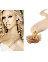 300g / lot 1g / strand, 100g / pc u-tip menselijk haar uitbreiding brazilian menselijk haar zijde recht haar # 1b, # 2, # 4, # 8, # 27,