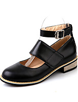 Women's Shoes  Low Heel Heels/Round Toe Pumps/Heels Office & Career/Dress Black/White/Beige