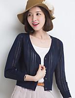YINGYIYANG® Women's Korean Lightweight Long Sleeve Openwork Cardigan Sunscreen Knitwear