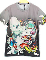 European Style TEE Digital Printing 3D T-shirt Tiger Bird Harajuku Sleeved T-shirt