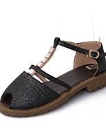 Chaussures Femme - Extérieure / Décontracté - Noir / Rose / Beige - Talon Bas - Gladiateur - Sandales - Similicuir