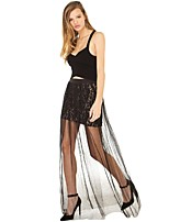 Women's Black Skirts , Casual/Lace Maxi