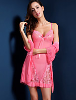 Suzel summer female sexy hot lace Nightgown Pajamas harness two piece lingerie
