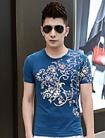Men's Short Sleeve T-Shirt , Others Casual Print