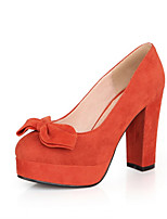 Women's Shoes Synthetic Chunky Heel Heels/Basic Pump Pumps/Heels Office & Career/Dress/Casual Black/Pink/Red