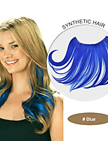 14-20 Inch 45g/pc Blue Synthetic Flip in Hair Extensions 0002