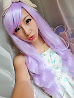 Japanese and Korean Fashion Girl Long Hair Purple Wig