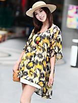 Women's Print Blouse Short Sleeve
