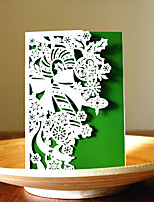 1pcs 3 Colors Laser Cut Cane Christmas Greeting Card Party Invitaion Card Christmas Tree Decoration