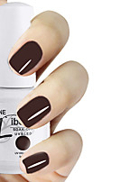 LIBEINE 1pc Soak Off 15 ML UV Gel Nail Polish Color Gel Polish 004# Dark Black-purple