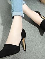 Women's Shoes Velvet Stiletto Heel Heels Pumps/Heels Party & Evening/Dress/Casual Black/Gray