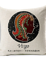 Modern Style Constellation Virgo Patterned Cotton/Linen Decorative Pillow Cover