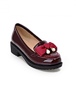 Women's Shoes Synthetic Chunky Heel Heels/Basic Pump Pumps/Heels Office & Career/Dress/Casual Black/Beige/Burgundy