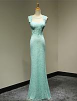 hemkomst formell aftonklänning mantel / kolumn älskling golv längd spetsklänning