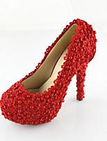 Women's Shoes Leatherette Stiletto Heel Heels Pumps/Heels Wedding White