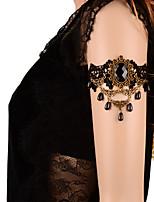Vintage Big Black Gem Drip Pearl Bracelet