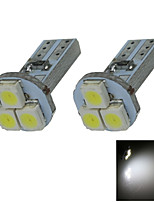 2X White T5 3 1210 LED Dashboard Licence Plate Speed Wedge Light Bulb B006