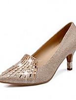 Women's Shoes Synthetic Chunky Heel Heels/Basic Pump/Pointed Toe Pumps/Heels Office & Career/Dress