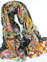 Women's Fashion 100% Wool Print Scarf