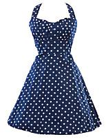 Monta Women's Vintage/Sexy/Party Sleeveless Dresses (Cotton Blend)