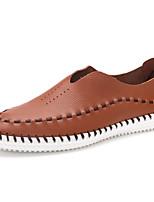 Hombre Zapatos de taco bajo y Slip-Ons Confort Cuero de Napa Otoño Invierno Casual Fiesta y Noche Tacón Plano Negro Azul Marrón Claro