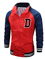 Men's Fashion D Letter Embroidery Slim Jacket