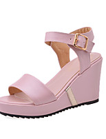 Women's Shoes Synthetic//Rubber Wedge Heel Wedges/Heels/Round Toe/Open Toe SandalsOffice & Career/Party