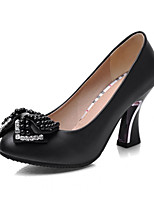Women's Shoes  Stiletto Heel Round Toe Pumps/Heels Outdoor/Office & Career/Casual Black/Red/White