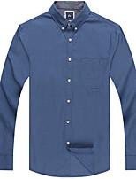 Men's Cotton Casual Long Sleeve Plain Shirts