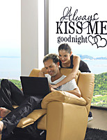 Wall Stickers Wall Decals Style Kiss Me English Words & Quotes PVC Wall Stickers