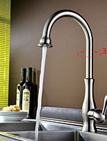 Shengbaier Contemporary Nickel Brushed One Hole Single Handle Kitchen Faucet