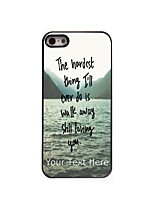 Personalized Gift The Hardest Thing Design Aluminum Hard Case for iPhone 4/4S